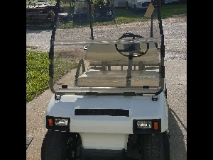 White Club Car